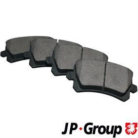 Jogo de pastilhas para travão de disco 1163706610 com uma excecional JP GROUP relação preço-desempenho