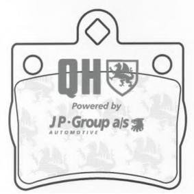 комплект спирачно феродо, дискови спирачки 1363700519 с добро JP GROUP съотношение цена-качество