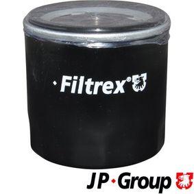 Filtro de óleo 1518503700 com uma excecional JP GROUP relação preço-desempenho