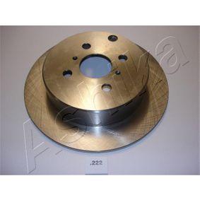Disco de travão 61-02-222 ASHIKA Pagamento seguro — apenas peças novas
