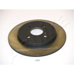 Disco de travão 61-02-232 ASHIKA Pagamento seguro — apenas peças novas