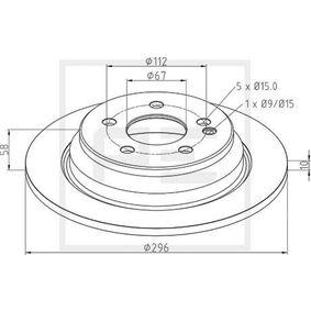 Disco de travão 016.673-00A PETERS ENNEPETAL Pagamento seguro — apenas peças novas