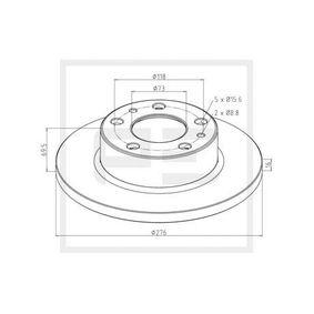 Disque de frein 026.668-10A PETERS ENNEPETAL Paiement sécurisé — seulement des pièces neuves