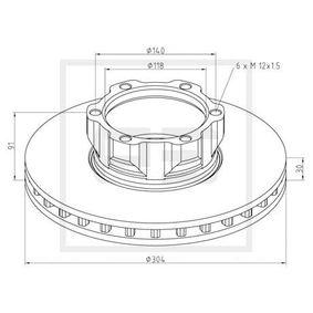 Disco de travão 016.650-00A PETERS ENNEPETAL Pagamento seguro — apenas peças novas