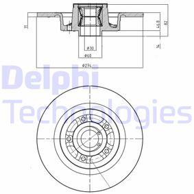 Disque de frein BG9026RSC pour RENAULT LAGUNA à prix réduit — achetez maintenant!