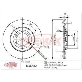 Achetez et remplacez Disque de frein BD-6780