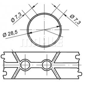 MAHLE ORIGINAL cuzinet, arbore 001 BS 19207 300 cumpărați online 24/24
