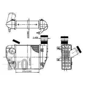 koop ABAKUS Intercooler, inlaatluchtkoeler 003-018-0002 op elk moment