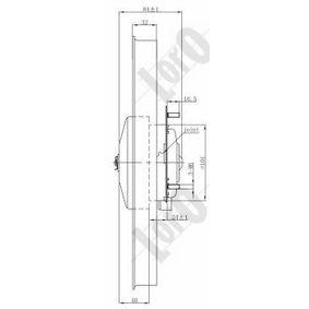 kupite ABAKUS Ventilator, hlajenje motorja 009-014-0006 kadarkoli