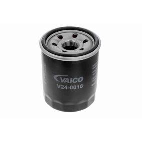 Filtro de óleo V24-0018 com uma excecional VAICO relação preço-desempenho