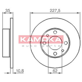 Brake Disc 103166 KAMOKA Secure payment — only new parts