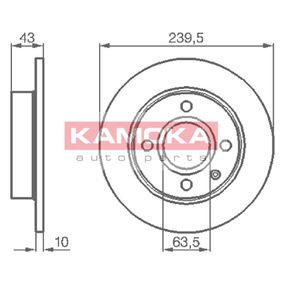 Disque de frein 103416 KAMOKA Paiement sécurisé — seulement des pièces neuves