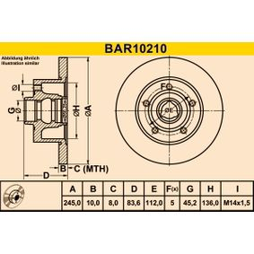 Brake Disc BAR10210 BARUM Secure payment — only new parts