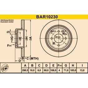 Brake Disc BAR10230 406 Estate 2.1 TD 12V 109 HP original parts-Offers