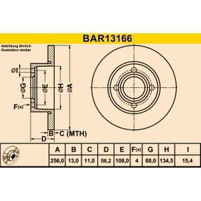 Brake Disc BAR13166 BARUM Secure payment — only new parts