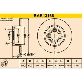 Disco freno BAR13166 BARUM Pagamento sicuro — Solo ricambi nuovi