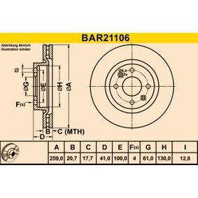 Bremsscheibe von BARUM - Artikelnummer: BAR21106