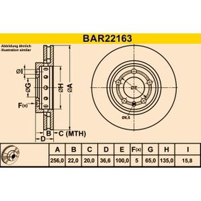 Disco freno BAR22163 BARUM Pagamento sicuro — Solo ricambi nuovi