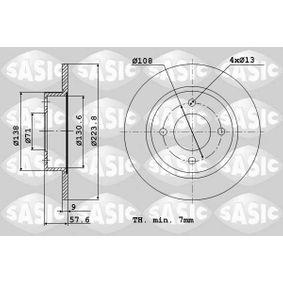 Disco freno 2004286J SASIC Pagamento sicuro — Solo ricambi nuovi