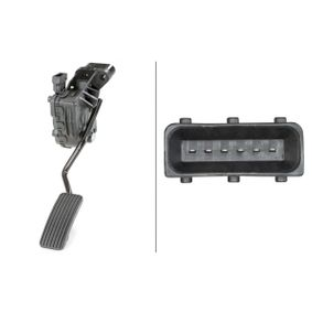 Αγοράστε HELLA Αισθητήρας, θέση του πεντάλ γκαζιού 6PV 010 946-051 οποιαδήποτε στιγμή