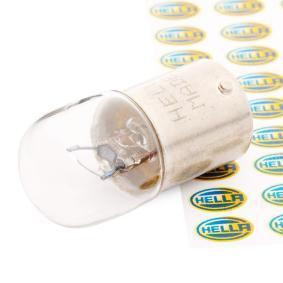 koop HELLA Gloeilamp, kentekenplaatverlichting 8GA 002 071-121 op elk moment