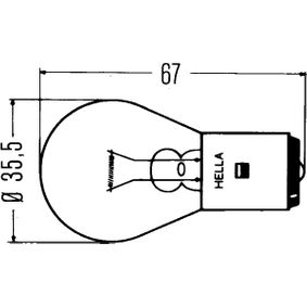 köp HELLA Glödlampa, arbetsstrålkastare 8GA 002 083-131 när du vill