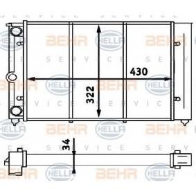 Radiateur, refroidissement du moteur 8MK 376 713-324 à un rapport qualité-prix HELLA exceptionnel