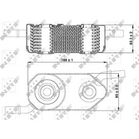 NRF Radiator ulei, ulei motor 31364 cumpărați online 24/24