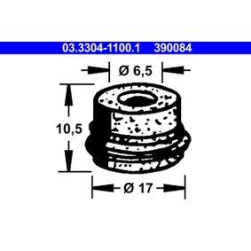 kúpte si ATE Zátka nádrżky na brzdovú kvapalinu 03.3304-1100.1 kedykoľvek