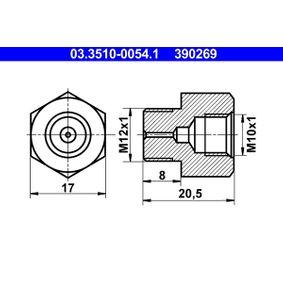 ATE адаптер, спирачна тръба (маркуч) 03.3510-0054.1 купете онлайн денонощно