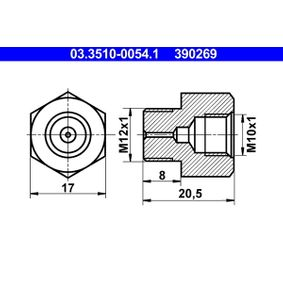 ATE Adaptor, conducte frana 03.3510-0054.1 cumpărați online 24/24