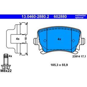 13046028802 Bremsbelagsatz, Scheibenbremse ATE - Original direkt kaufen