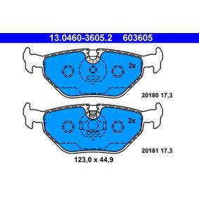 ATE | комплект спирачно феродо, дискови спирачки 13.0460-3605.2