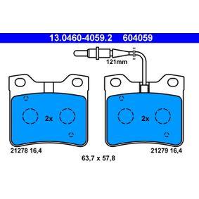 Brake Pad Set, disc brake 13.0460-4059.2 406 Estate 2.1 TD 12V 109 HP original parts-Offers