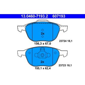 13.0460-7193.2 Brake Pad Set, disc brake ATE - Experience and discount prices