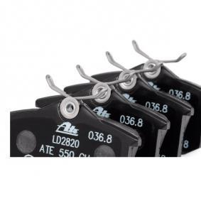 13.0470-2820.2 Sada brzdových platničiek kotúčovej brzdy ATE - Lacné značkové produkty