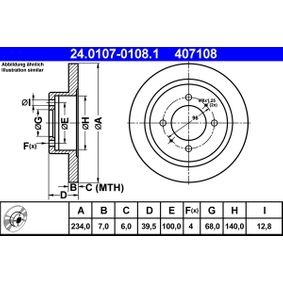 Disco freno ATE 24.0107-0108.1 comprare e sostituisci