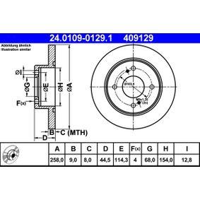 Disco freno ATE 24.0109-0129.1 comprare e sostituisci