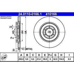 Disco freno 24.0110-0166.1 con un ottimo rapporto ATE qualità/prezzo