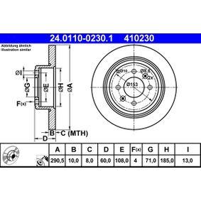 Brake Disc 24.0110-0230.1 406 Estate 2.1 TD 12V 109 HP original parts-Offers