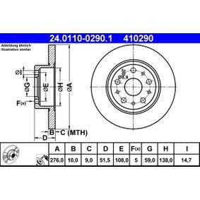 Disco freno 24.0110-0290.1 con un ottimo rapporto ATE qualità/prezzo