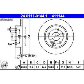 Disco freno 24.0111-0144.1 con un ottimo rapporto ATE qualità/prezzo