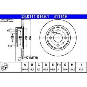 Disco freno ATE 24.0111-0149.1 comprare e sostituisci
