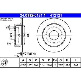 Compre e substitua Disco de travão ATE 24.0112-0121.1