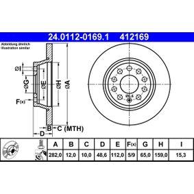 24.0112-0169.1 stabdžių diskas ATE - Pigus kokybiški produktai