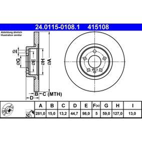 Disco freno 24.0115-0108.1 con un ottimo rapporto ATE qualità/prezzo