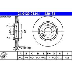kupte si ATE Brzdový kotouč 24.0120-0134.1 kdykoliv