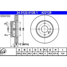 kupte si ATE Brzdový kotouč 24.0122-0128.1 kdykoliv