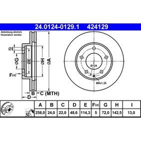Disco freno ATE 24.0124-0129.1 comprare e sostituisci