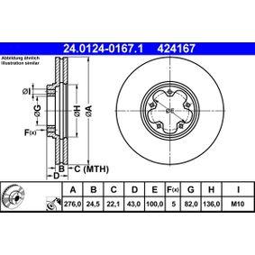 Disco freno 24.0124-0167.1 con un ottimo rapporto ATE qualità/prezzo